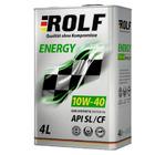 Масло моторное полусинтетическое ROLF Energy 10W-40 API SL/CF (4 л)