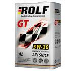 Масло моторное синтетическое ROLF  GT 5W-30 API SN/CF (4 л)
