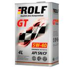 Масло моторное синтетическое ROLF  GT 5W-40 API SN/CF (4 л)